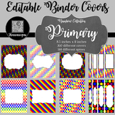 Binder/Document Covers & Spines - Rainbow: Primary