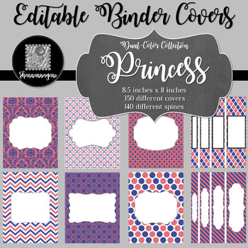 Binder/Document Covers & Spines - Dual-Color: Princess