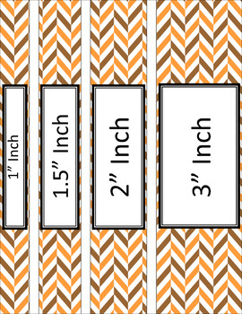 Binder/Document Covers & Spines - Dual-Color: Pumpkin Patch