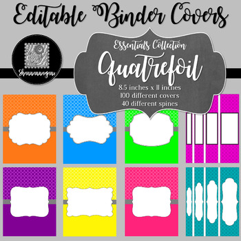 Binder/Document Covers & Spines - Essentials: Quatrefoil