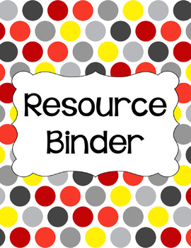 Binder/Document Covers & Spines - Multi-Color: Racecar