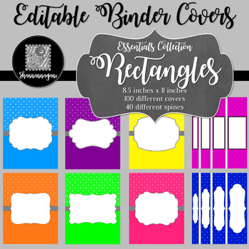 Binder/Document Covers & Spines - Essentials: Rectangles