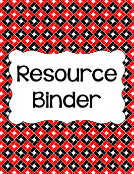 Binder Covers and Spines - Red, Black, and White | Editable PowerPoint