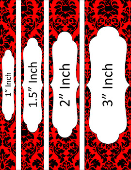 Binder/Document Covers & Spines - Dual-Color: Black, Red, and White