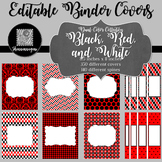 Binder/Document Covers & Spines - Dual-Color: Black, Red,