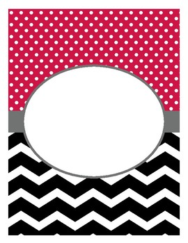 Binder Covers and Spines - Red, Gray, Black and White