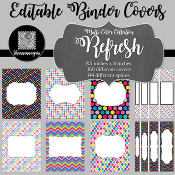 Binder/Document Covers & Spines - Multi-Color: Refresh