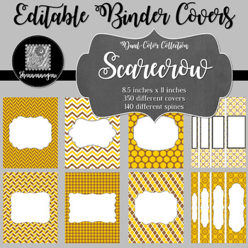 Binder Covers and Spines - Scarecrow | Editable PowerPoint