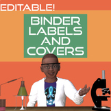 Binder Covers and Spines Space Theme & Editable