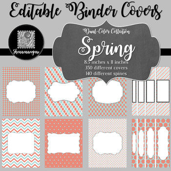 Binder Covers and Spines - Spring | Editable PowerPoint