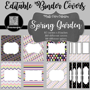 Binder/Document Covers & Spines - Multi-Color: Spring Garden