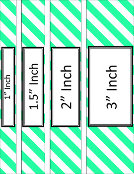 Binder Covers and Spines - Stripes and White | Editable PowerPoint