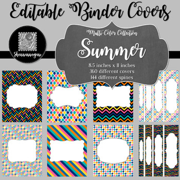 Binder Covers and Spines - Summer | Editable PowerPoint
