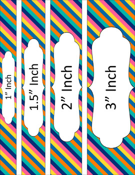 Binder/Document Covers & Spines - Multi-Color: Summer