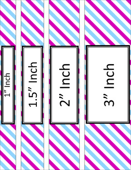 Binder/Document Covers & Spines - Dual-Color: Summer Fun