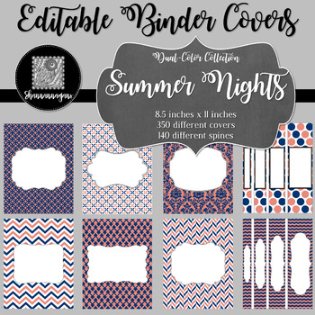 Binder/Document Covers & Spines - Dual-Color: Summer Nights