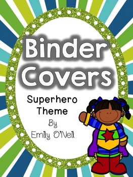 Binder Covers and Spines (Superhero Theme)