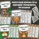 Binder Covers and Spines Teacher Planner Editable Woodland Animals Forest Theme