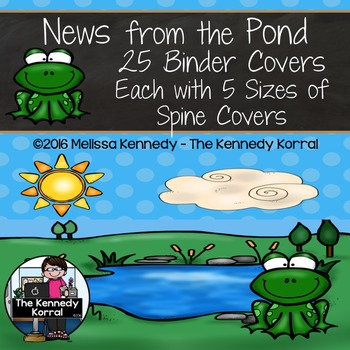 Frogs: Binder Covers and Spines {News from the Pond}