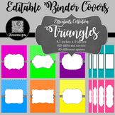 Binder Covers and Spines - Triangles | Editable PowerPoint