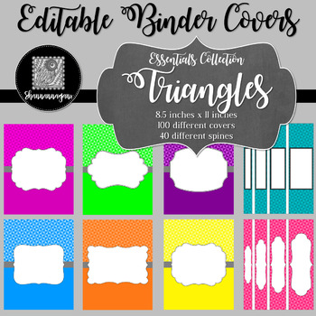 Binder/Document Covers & Spines - Essentials: Triangles