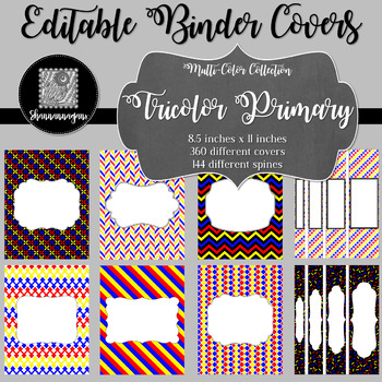 Binder/Document Covers & Spines - Multi-Color: Tricolor Primary