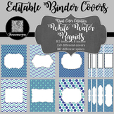 Binder/Document Covers & Spines - Dual-Color: White Water Rapids