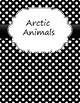 Binder Covers and Spines with Black and White Polka Dot background