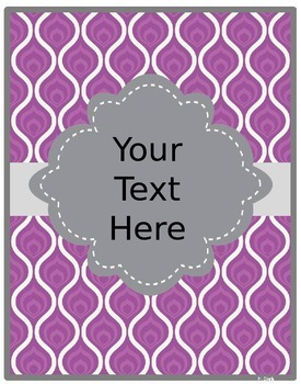 Binder Covers and Spines~EDITABLE!~Colorful & Gray