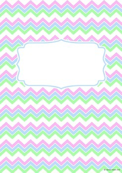 Binder Covers and spines - Zig-zag themed - Editable