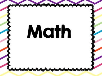 I Can Statements:  First Grade Common Core MATH