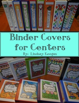 Binder Covers for Centers Organization