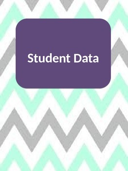 Binder Covers for Classroom Organization Chevron
