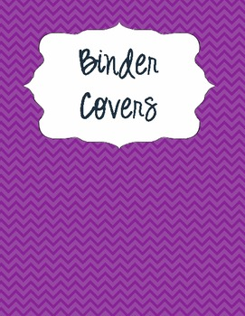 Binder Covers for Classroom Subjects