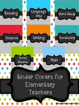 Binder Covers for Elementary Teachers *Not Editable
