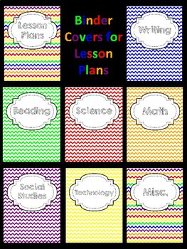 Binder Covers for Lesson Plans and Resources
