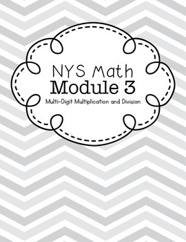 Binder Covers for NYS 4th Grade Math Modules {Chevron}