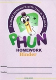 Binder Covers for PHUN Homework Binders #2