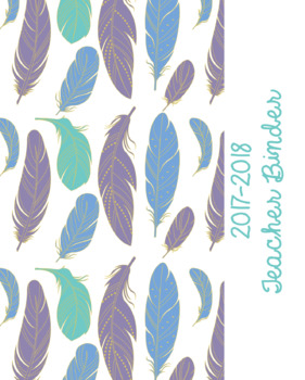 Binder Covers in Boho Feathers