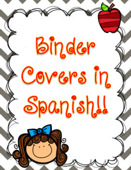 Binder Covers in Spanish