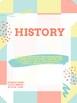 Binder Covers--school subjects