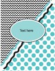 Binder Covers  with Black Chevron and Pastel Colors Polka Dots  (Editable)