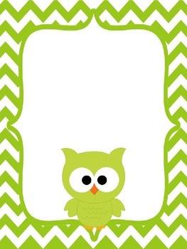 Binder Covers with Owl Theme {Editable}
