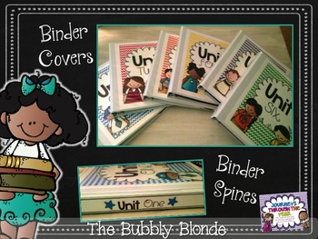 Binder Covers with Stems (Units 1-6)
