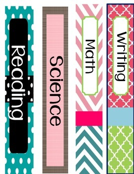 Binder Covers with spines