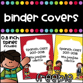 Binder Covers with spines - Editable - Freebie