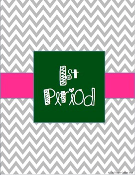 Binder Dividers and Cover Pages: Chevron, Blue, and Pink