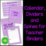 Back To School- Teacher Calendar, Binder, Dividers