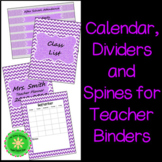 Back To School- Teacher Calendar, Binder, Dividers