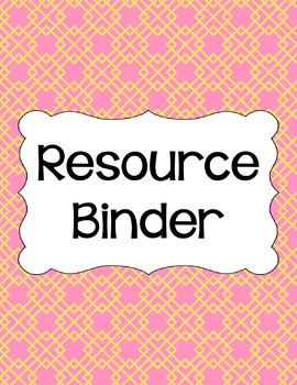Binder/Document Covers & Spines - Dual-Color: Pink Lemonade